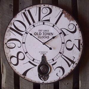 Grosse pendel wanduhr old town clocks antik nostalgie for Tattoo shops junction city ks