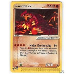 Pokemon Card Groudon EX