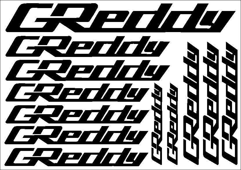 GReddy JDM Cut Vinyl Decal Sticker Sheet CGR0003S