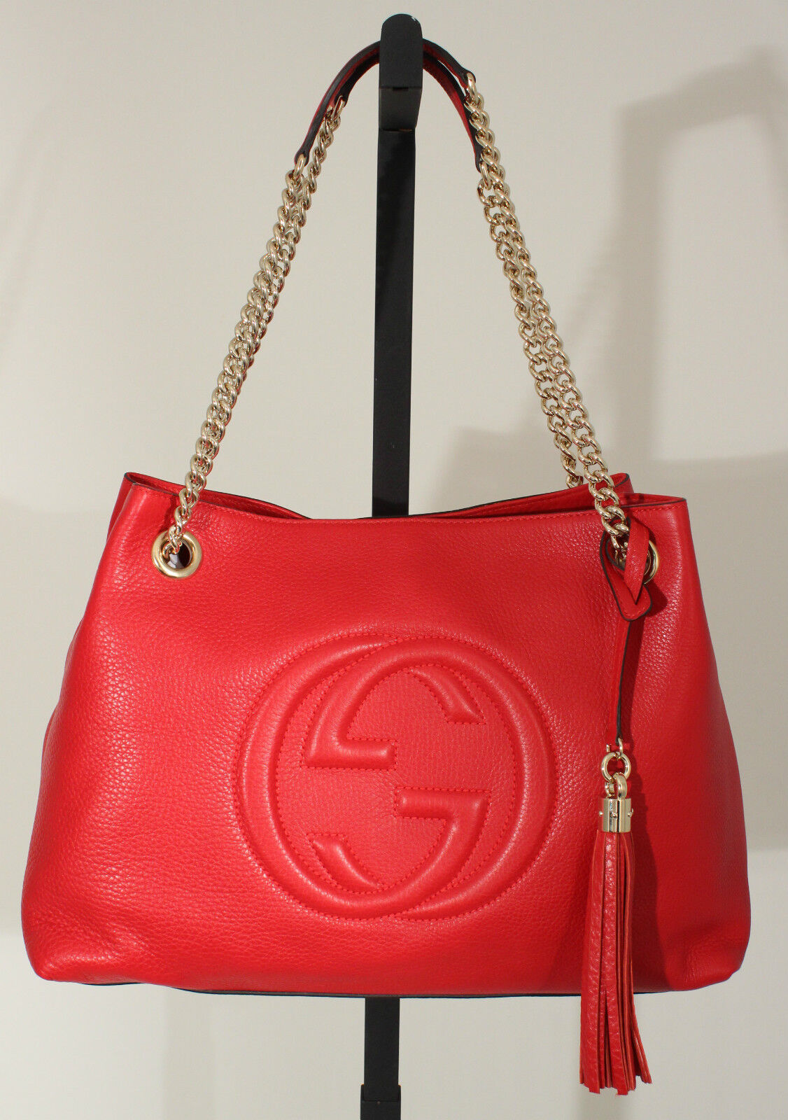 Gucci Red Soho Shoulder Bag 110