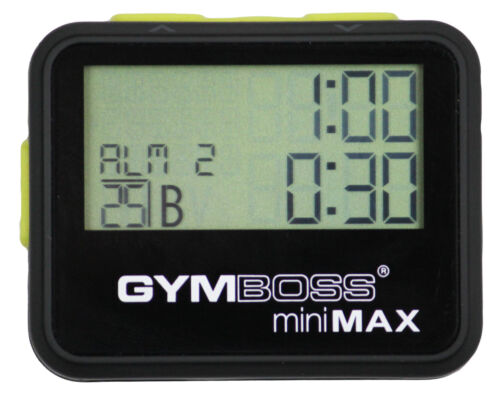 GYMBOSS miniMAX INTERVAL TIMER & STOPWATCH BLACK YELLOW SOFTCOAT  FR GYMBOSS HQ in Sporting Goods, Exercise & Fitness, Gym, Workout & Yoga, Fitness Equipment, Other | eBay