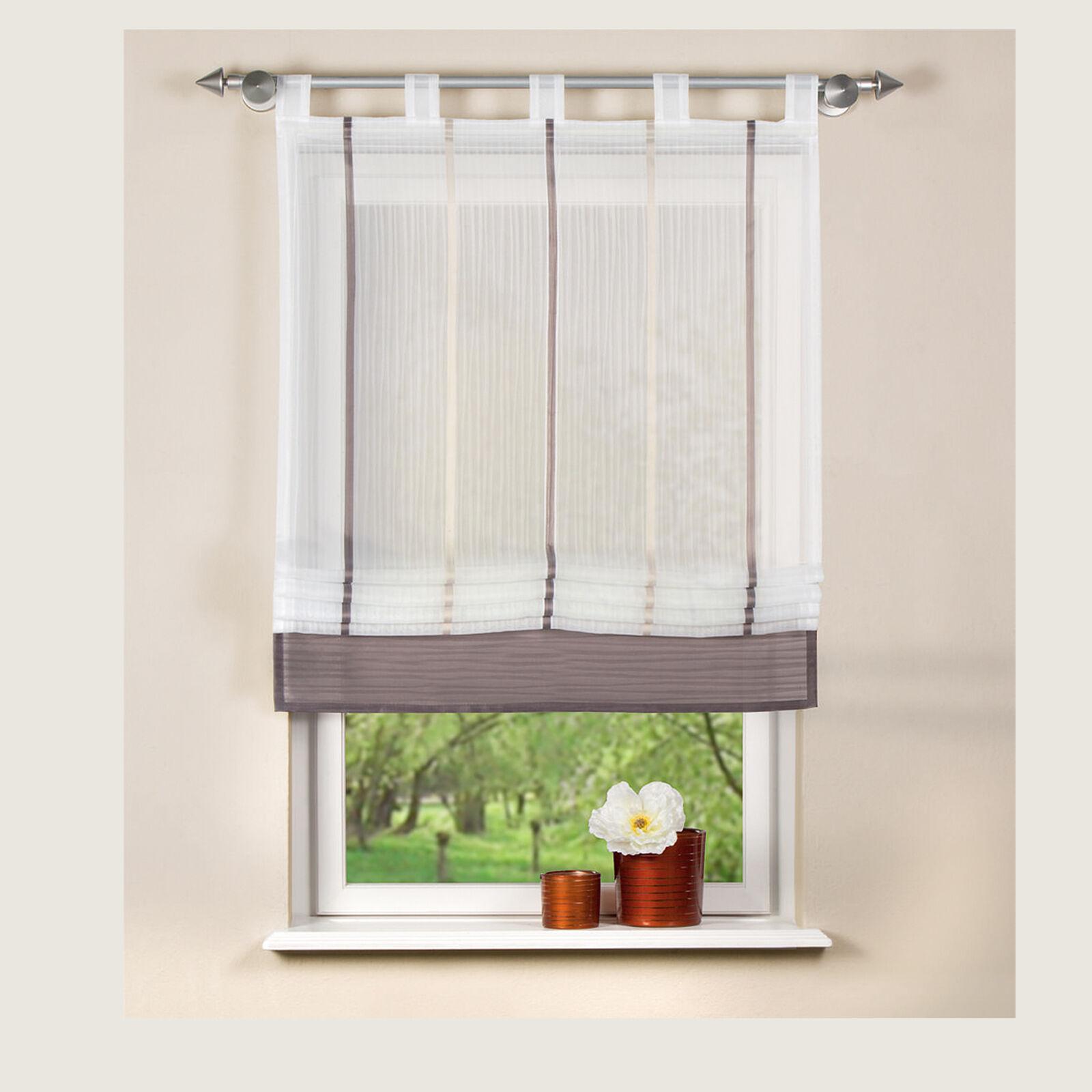 gabi schlaufen raffrollo raffstore rollo home wohnideen schmidtgard ebay. Black Bedroom Furniture Sets. Home Design Ideas