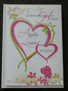 Gästebuch Hochzeit pink/grün