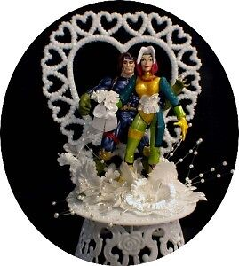marvel wedding cake toppers gambit amp rogue marvel comic wedding cake topper groom 17218