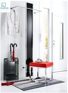 Garderobe garderobenpaneel verchromtem edelstahl schwarz for Garderobenpaneel edelstahl