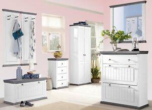 garderobe konrad wei grau schuhschrank truhe spiegel. Black Bedroom Furniture Sets. Home Design Ideas
