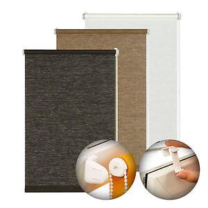 gardinia easyfix natur rollo zum kleben klemmen ohne bohren v muster farben ebay. Black Bedroom Furniture Sets. Home Design Ideas