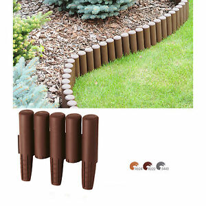 garten palisade 2 7m beet umrandung rasenkante randstein kantenstein einfassung ebay. Black Bedroom Furniture Sets. Home Design Ideas
