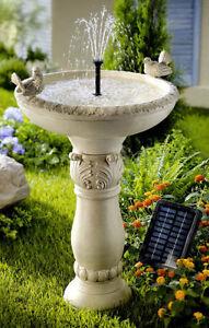 gartenbrunnen brunnen vogeltr nke mit solar standbrunnen. Black Bedroom Furniture Sets. Home Design Ideas