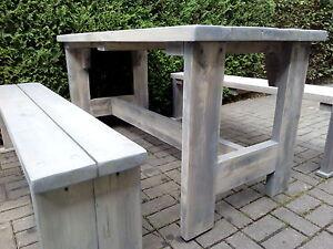 Gartengarnitur Sitzgruppe Altholz used look Bauholzmöbel ...