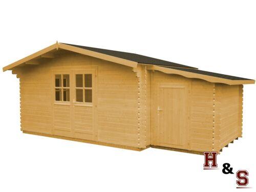 gartenhaus anbauschuppen 440x320 cm holz ger tehaus 34 mm holzhaus blockhaus ebay. Black Bedroom Furniture Sets. Home Design Ideas