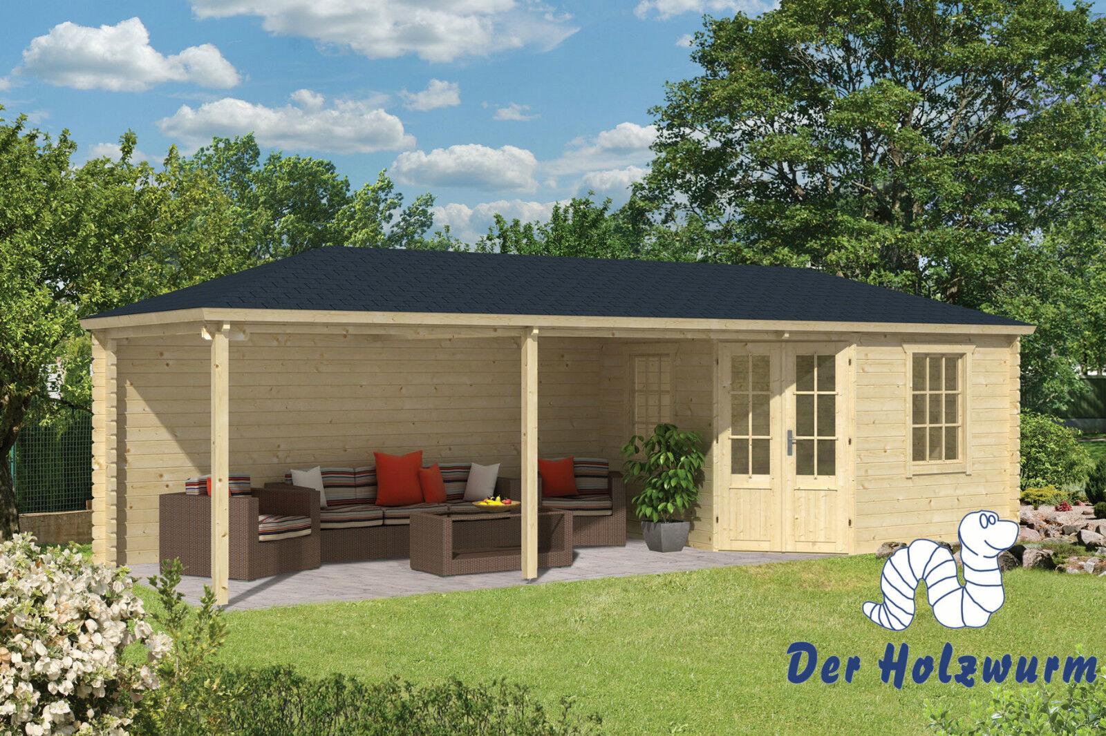 gartenhaus bertil blockhaus 790x300cm holzhaus 45mm ger tehaus unterstand neu ebay. Black Bedroom Furniture Sets. Home Design Ideas
