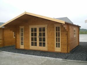 gartenhaus blockhaus holzhaus diva 5 0x4 5m 45mm wand u 28mm fussboden ebay. Black Bedroom Furniture Sets. Home Design Ideas