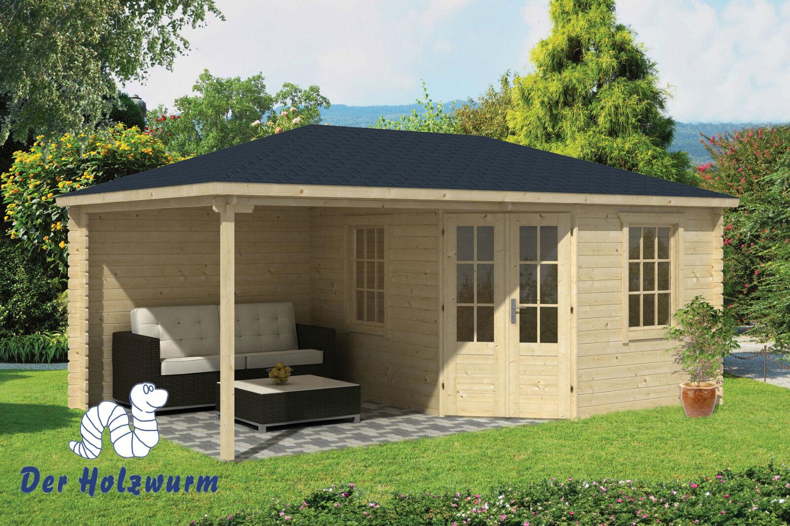 gartenhaus christoffer blockhaus 575x350 cm holzhaus 28mm ger tehaus unterstand 8715815025798 ebay. Black Bedroom Furniture Sets. Home Design Ideas