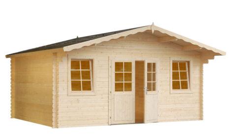 gartenhaus erfurt 3 ger tehaus blockhaus schuppen holzhaus ca 400x300 cm 34 mm ebay. Black Bedroom Furniture Sets. Home Design Ideas