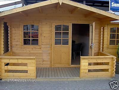 gartenhaus ger tehaus holzhaus garten haus blockhaus 3 80x3 20 m terrasse ebay. Black Bedroom Furniture Sets. Home Design Ideas