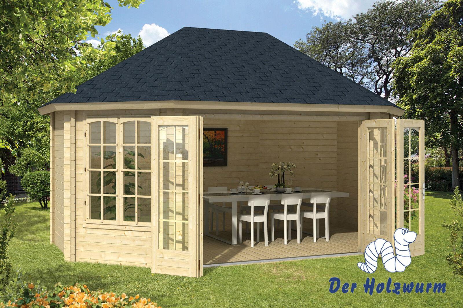 gartenhaus gudrun blockhaus 503x360cm holzhaus 45mm ger tehaus pavillon holz neu ebay. Black Bedroom Furniture Sets. Home Design Ideas