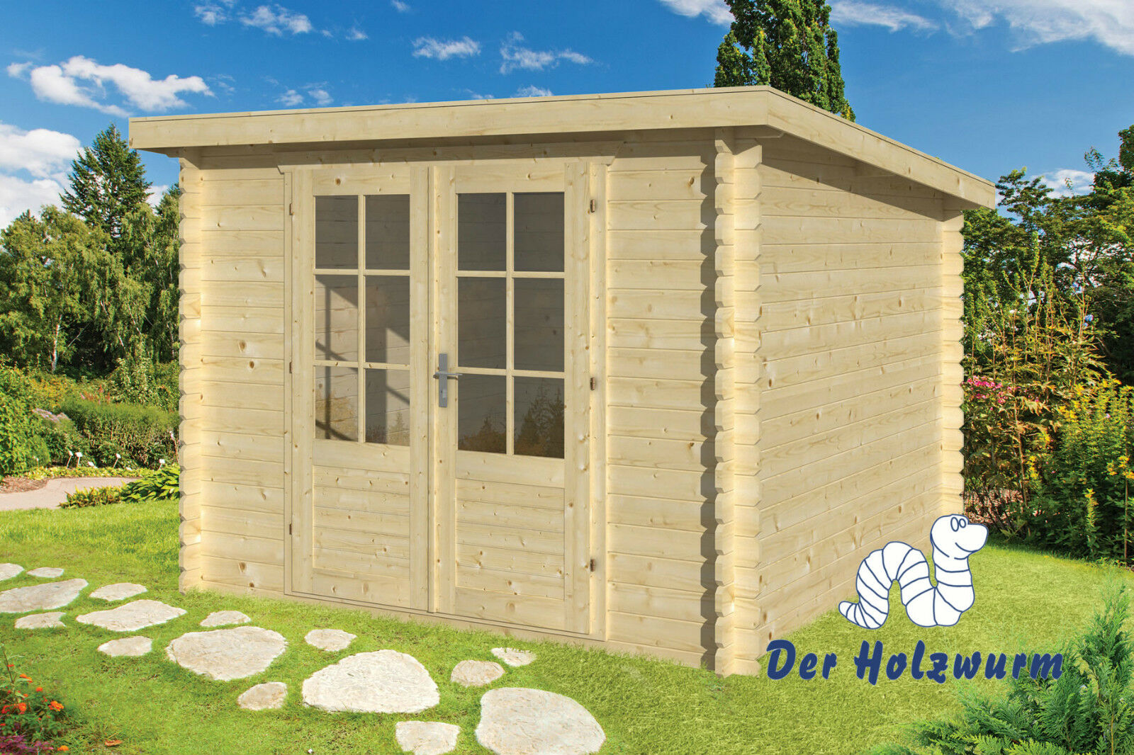gartenhaus j rgen blockhaus 290x290 cm ger tehaus holzhaus 28 mm holz schuppen ebay. Black Bedroom Furniture Sets. Home Design Ideas