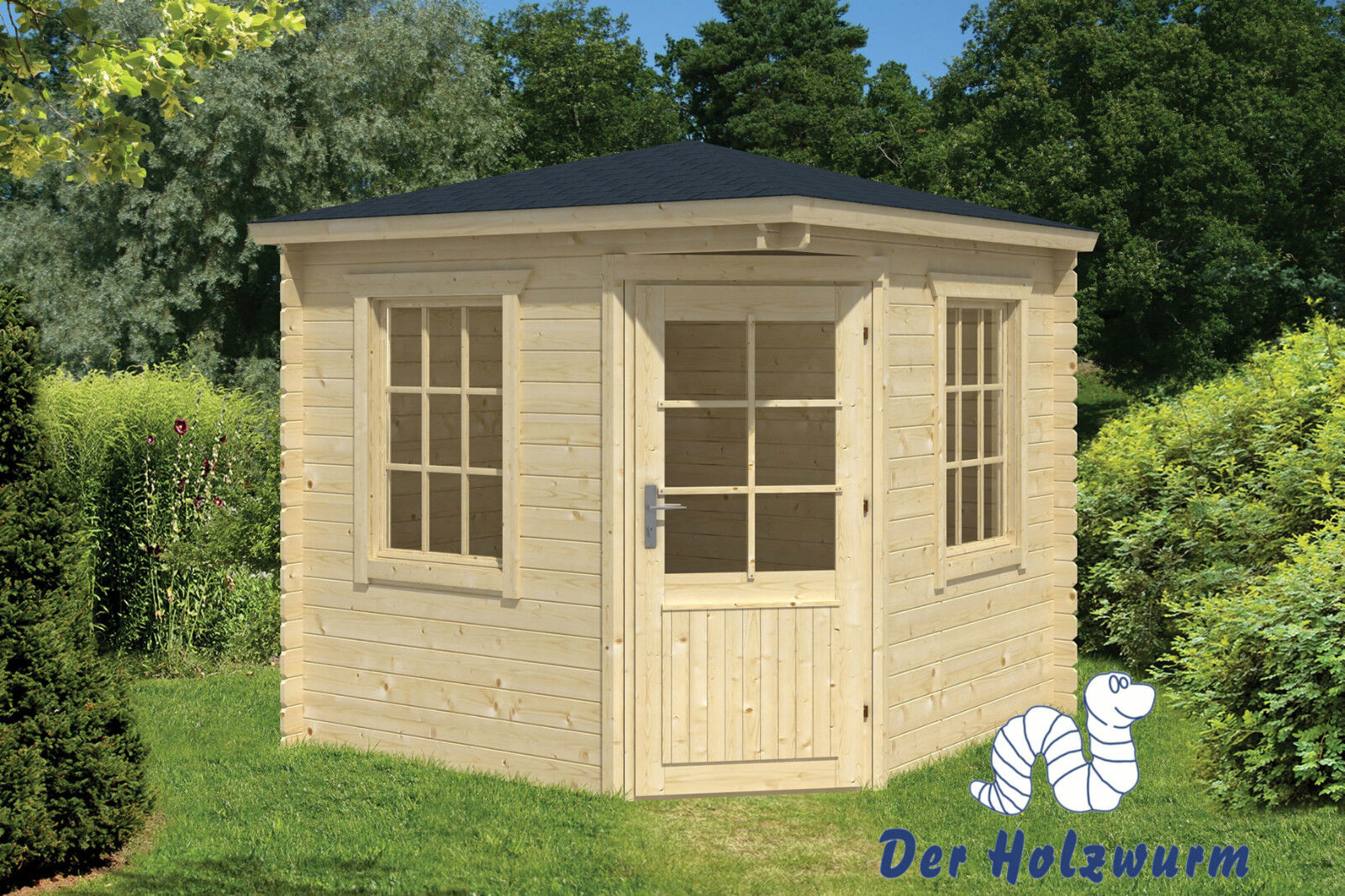 gartenhaus jos blockhaus 250x250 cm holzhaus 28mm ger tehaus pavillon holz neu ebay. Black Bedroom Furniture Sets. Home Design Ideas