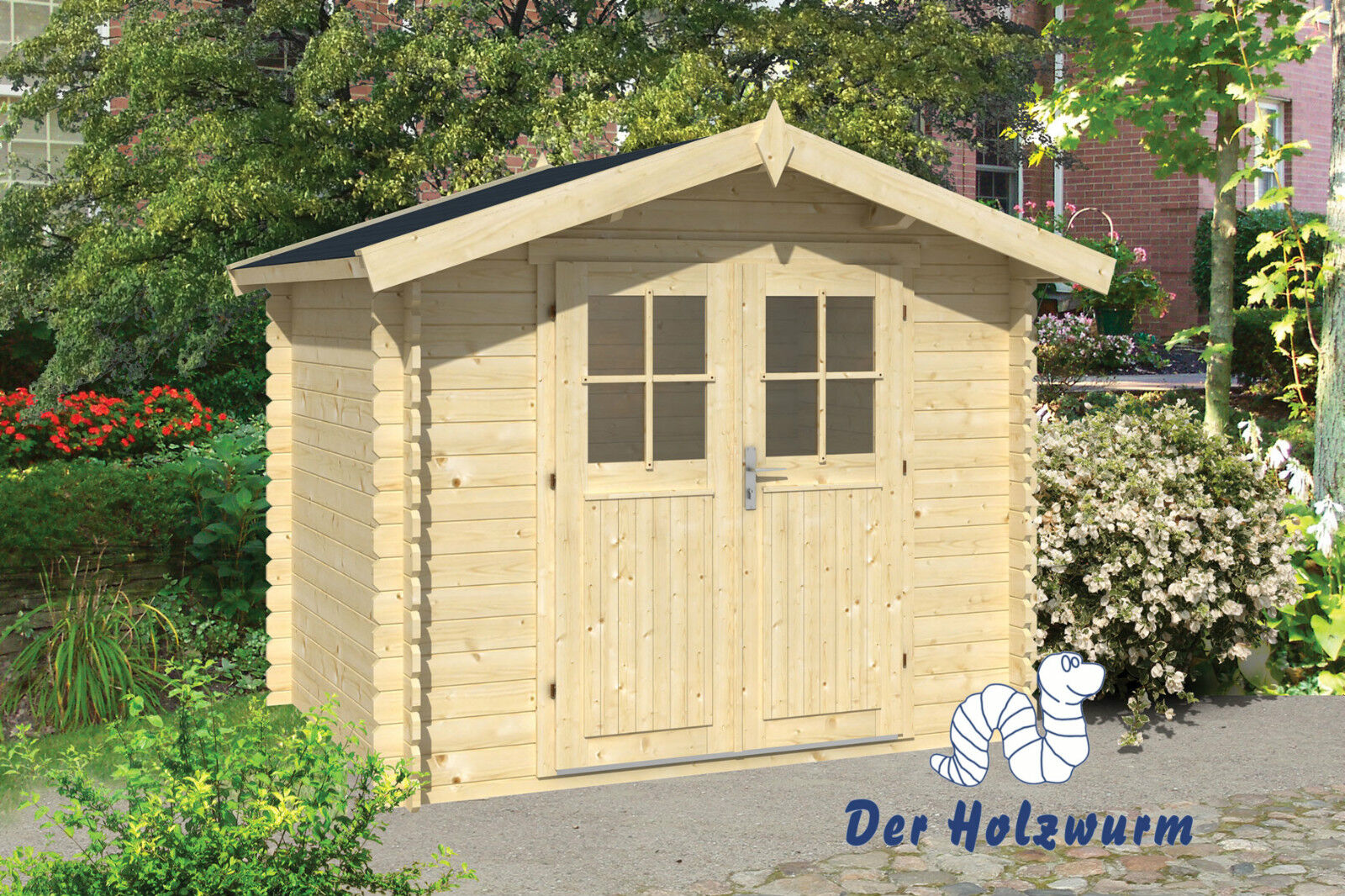 gartenhaus robert blockhaus 260x200 cm ger tehaus holzhaus 28 mm holz schuppen ebay. Black Bedroom Furniture Sets. Home Design Ideas