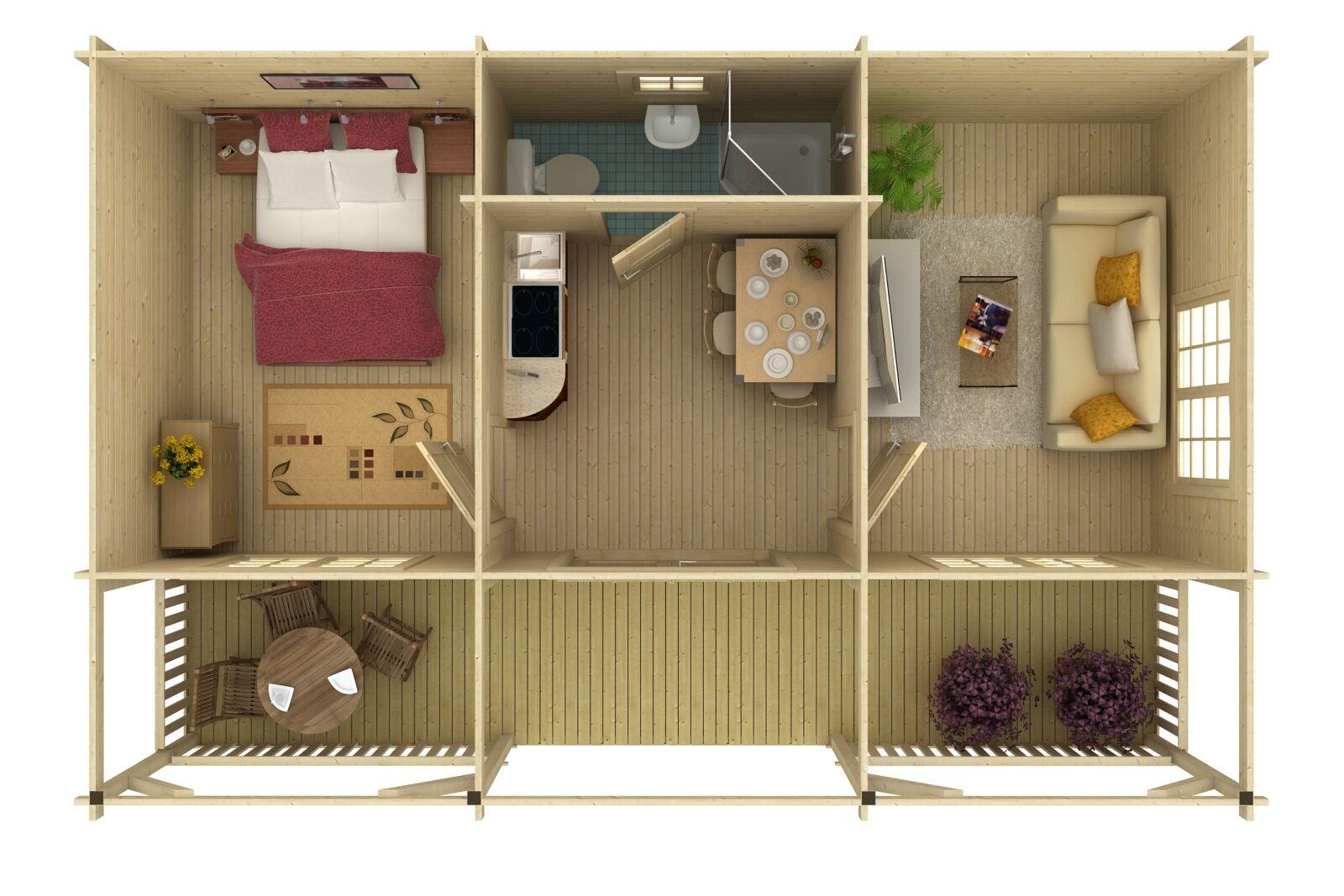 gartenhaus sandra 2 wendy ferienhaus blockhaus holzhaus ca 791x520 cm 44 mm ebay. Black Bedroom Furniture Sets. Home Design Ideas