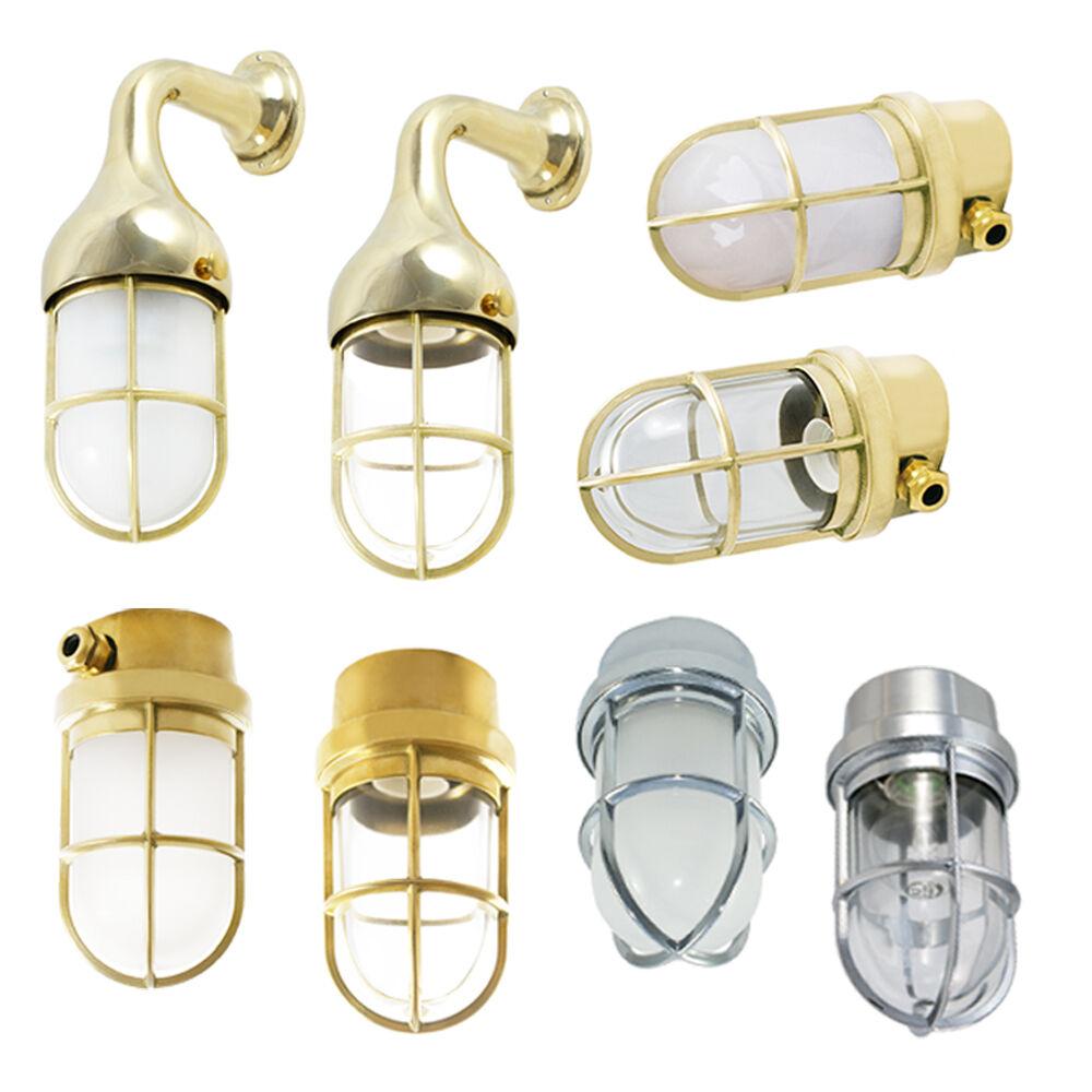 Garagenlampe Kellerlampe Aus Messing Wand Und Deckenleuchten EBay Wohnzimmer