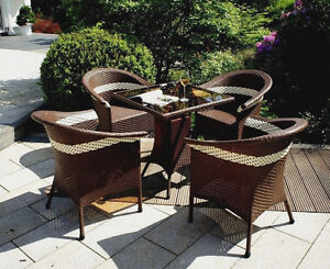 gartenm bel aus polyrattan sitzgruppe terasse balkon sessel stuhl tisch bistro ebay. Black Bedroom Furniture Sets. Home Design Ideas