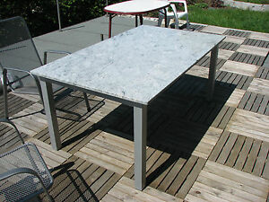 gartentisch terrassentisch steintisch natursteintisch balkontisch stein stahl ebay. Black Bedroom Furniture Sets. Home Design Ideas