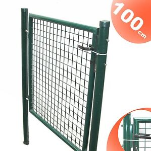 gartent r gartentor 100x100 cm wellengitter hoftor zaun t r tor gartenzaun ebay. Black Bedroom Furniture Sets. Home Design Ideas