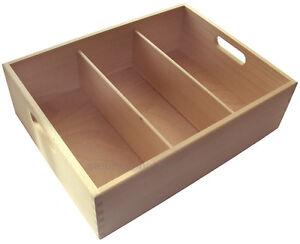 gastro besteckkasten 3 oder 4 fach buchen holz besteckbeh lter besteckmulde ebay. Black Bedroom Furniture Sets. Home Design Ideas