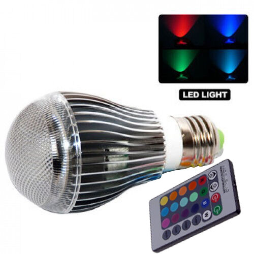 GearXS 9W E27 Color LED RGB Magic Light Bulb With Wireless Remote in Home & Garden, Lamps, Lighting & Ceiling Fans, Light Bulbs | eBay