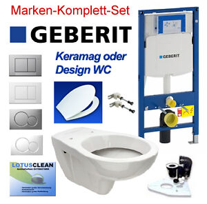 geberit duofix vorwandelement up320 mit keramag wc lotusclean komplett set ebay. Black Bedroom Furniture Sets. Home Design Ideas