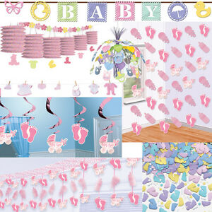 Geburt m dchen dekoration party baby shower rosa deko for Baby shower party deko