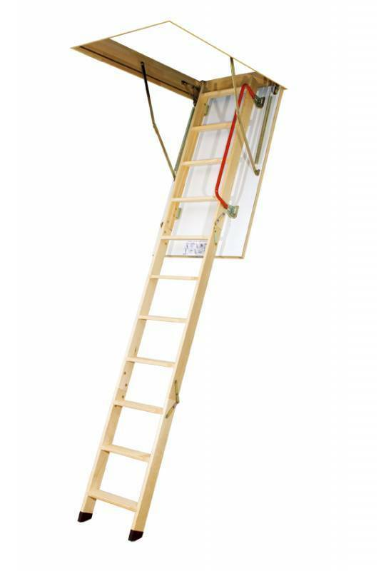 Insulated Floor Loft Ladder Space Saver Folding Stairs