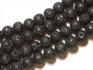 Gemstone-Black-Lava-6mm-Round-Loose-Beads-7-5-Half-Strand