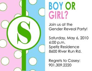 Free template for gender revealing invitations party invitations