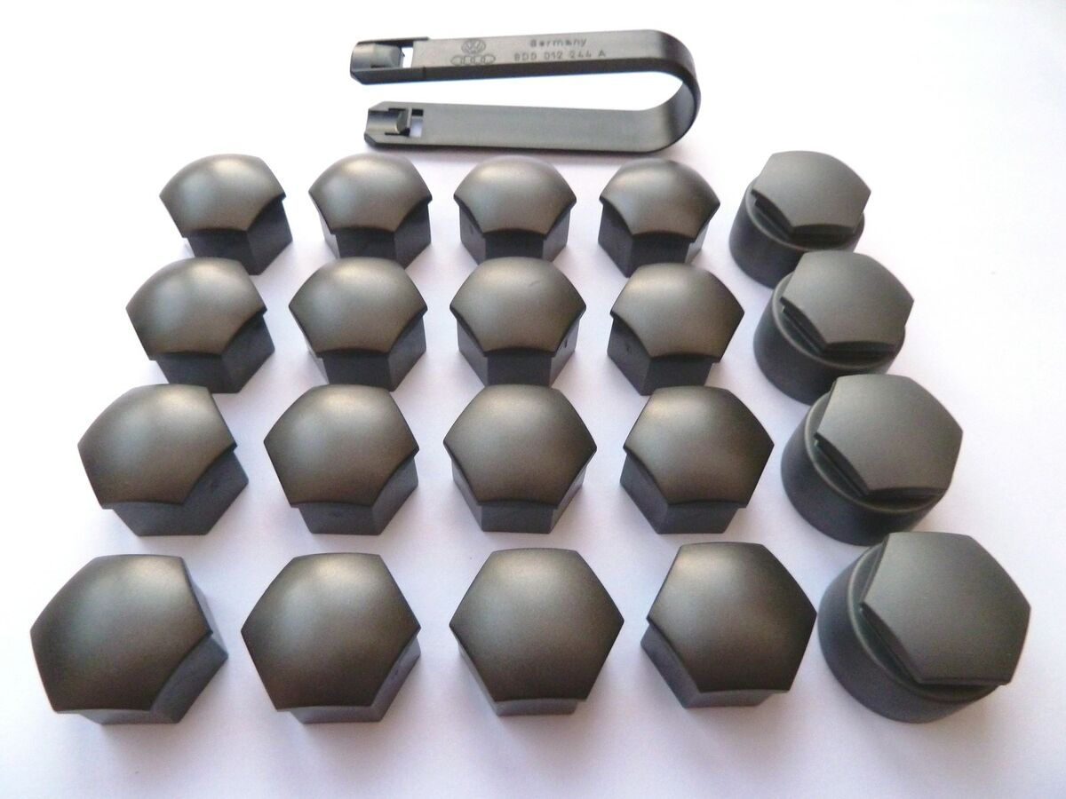 Audi Alloy Wheel Bolt Nut Caps Covers Including Removal Tool