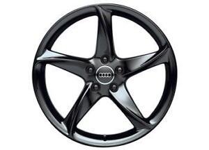 Genuine Audi Tt 8j 19 Quot X 9j 5 Arm Turbo Design Alloy Wheels Orion Black 2006 Ebay