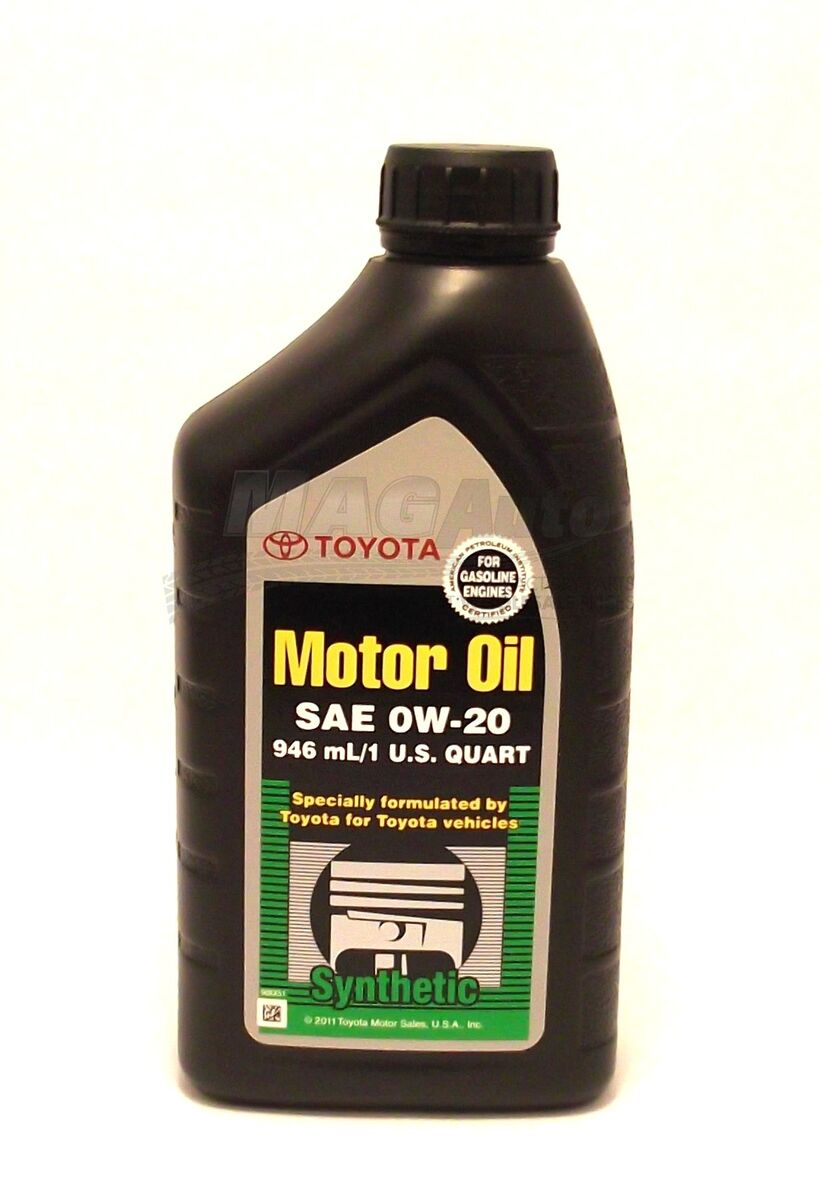 Genuine Toyota 0w20 Full Synthetic Motor Oil 12qt Case