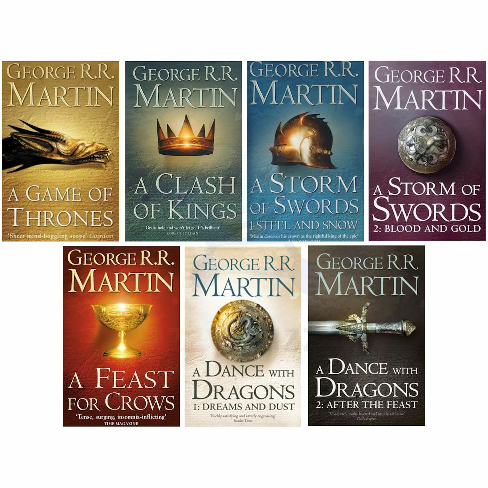 George R R Martin - A Game of Thrones Song of Ice and Fire 7 Books Set New