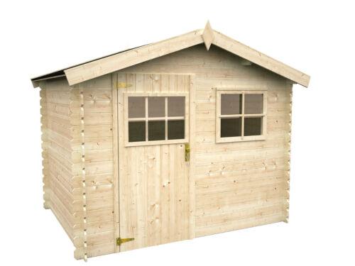 ger tehaus ottawa 1 gartenhaus 260x200 cm holz 19 mm schuppen blockhaus ww 97 ebay. Black Bedroom Furniture Sets. Home Design Ideas