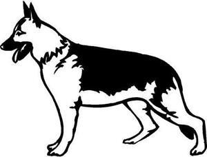 German Shepherd Vinyl Decal Car Truck Window Sticker in Specialty Services, Graphic & Logo Design | eBay