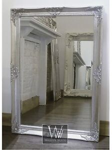 Gerona-Silver-Shabby-Chic-Rectangle-Vintage-Wall-Mirror-35-x-25-Large