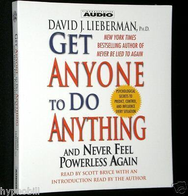 Get Anyone To Do Anything DAVID LIEBERMAN Sales NLP 2 CD's Influence Persuasion in Computers/Tablets & Networking, Software, Other | eBay