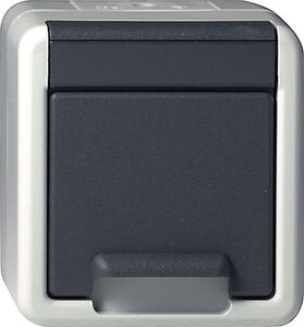 gira steckdosen kombinationen aufputz system ip 44. Black Bedroom Furniture Sets. Home Design Ideas