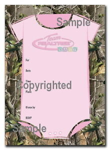 Girl Pink Team Realtree Camo Camouflage Baby Shower ...