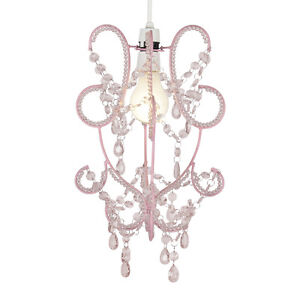 girls bedroom nursery pink shabby chic ceiling light shade