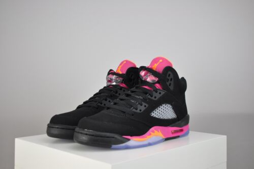 """Girl's (GS) Nike Air Jordan Retro 5 """"Floridian"""" Citrus/Pink 440892-067 Sizes 4-7 in Clothing, Shoes & Accessories, Kids' Clothing, Shoes & Accs, Girls' Shoes   eBay"""