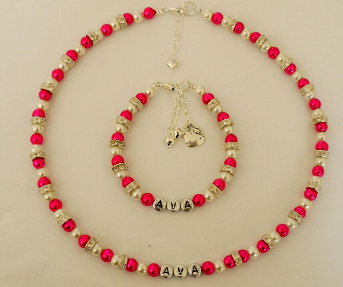 Hello Kitty Charm Friendship Necklace and Bracelet Set