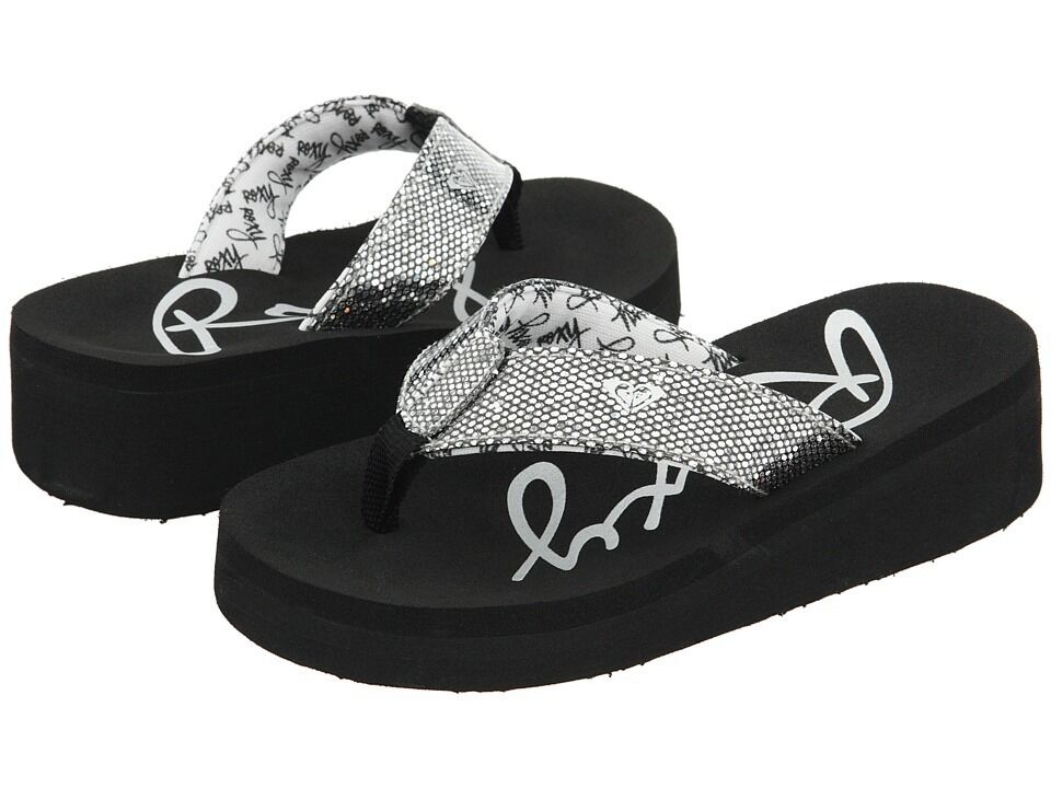 b1169f78aaef Girls Roxy Glitter Sandals Flip Flops Size 5 6 7 8 9 10 on PopScreen